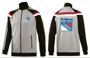 Wholesale Cheap NHL New York Rangers Zip Jackets Grey