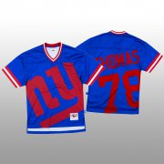 Wholesale Cheap NFL New York Giants #78 Andrew Thomas Blue Men's Mitchell & Nell Big Face Fashion Limited NFL Jersey
