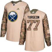 Wholesale Cheap Adidas Sabres #77 Pierre Turgeon Camo Authentic 2017 Veterans Day Stitched NHL Jersey