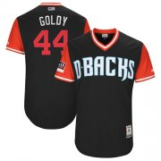 "Wholesale Cheap Diamondbacks #44 Paul Goldschmidt Black ""Goldy"" Players Weekend Authentic Stitched MLB Jersey"