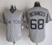 Wholesale Cheap Yankees #68 Dellin Betances Grey New Cool Base Stitched MLB Jersey
