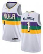 Wholesale Cheap Pelicans 1 Zion Williamson White City Edition Nike Swingman Jersey