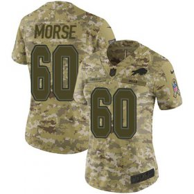 Wholesale Cheap Nike Bills #60 Mitch Morse Camo Women\'s Stitched NFL Limited 2018 Salute to Service Jersey