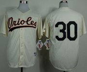 Wholesale Cheap Orioles #30 Chris Tillman Cream 1954 Turn Back The Clock Stitched MLB Jersey