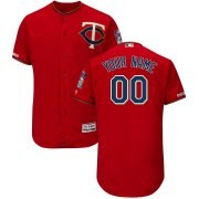 Wholesale Cheap Minnesota Twins Majestic Alternate Flex Base Authentic Collection Custom Jersey Scarlet