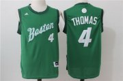 Wholesale Cheap Men's Boston Celtics #4 Isaiah Thomas adidas Green 2016 Christmas Day Stitched NBA Swingman Jersey