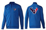Wholesale Cheap NFL Houston Texans Team Logo Jacket Blue_2