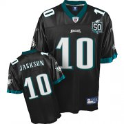Wholesale Cheap Eagles #10 DeSean Jackson Black Team 50TH Anniversary Patch Stitched NFL Jersey