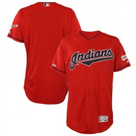Wholesale Cheap Cleveland Indians Blank Majestic Alternate 2019 All-Star Game Patch Flex Base Team Jersey Scarlet