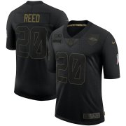 Wholesale Cheap Nike Ravens 20 Ed Reed Black 2020 Salute To Service Limited Jersey