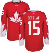 Wholesale Cheap Team CA. #15 Ryan Getzlaf Red 2016 World Cup Stitched NHL Jersey