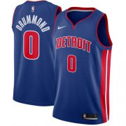 Wholesale Cheap Men's Nike Detroit Pistons #0 Andre Drummond Blue NBA Swingman Icon Edition Jersey