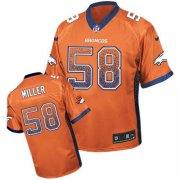 Wholesale Cheap Nike Broncos #58 Von Miller Orange Team Color Youth Stitched NFL Elite Drift Fashion Jersey