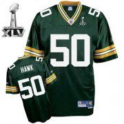 Wholesale Cheap Packers #50 A.J. Hawk Green Super Bowl XLV Stitched NFL Jersey