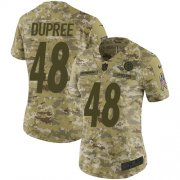 Wholesale Cheap Nike Steelers #48 Bud Dupree Camo Women's Stitched NFL Limited 2018 Salute to Service Jersey