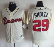 Wholesale Cheap Braves #29 John Smoltz Cream New Cool Base Stitched MLB Jersey