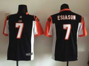 Wholesale Cheap Nike Bengals #7 Boomer Esiason Black Team Color Youth Stitched NFL Elite Jersey