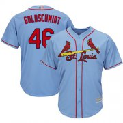 Wholesale Cheap Cardinals #46 Paul Goldschmidt Light Blue New Cool Base Stitched MLB Jersey