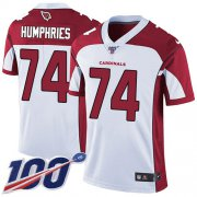 Wholesale Cheap Nike Cardinals #74 D.J. Humphries White Men's Stitched NFL 100th Season Vapor Limited Jersey