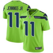 Wholesale Cheap Nike Seahawks #11 Gary Jennings Jr. Green Men's Stitched NFL Limited Rush Jersey