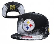 Wholesale Cheap Steelers Team Logo Black White Adjustable Hat YD