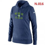 Wholesale Women's Nike Green Bay Packers Heart & Soul Pullover Hoodie Dark Blue