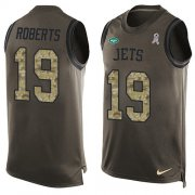 Wholesale Cheap Nike Jets #19 Andre Roberts Green Men's Stitched NFL Limited Salute To Service Tank Top Jersey