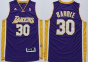 Wholesale Cheap Los Angeles Lakers #30 Julius Randle Revolution 30 Swingman Purple Jersey