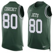 Wholesale Cheap Nike Jets #80 Wayne Chrebet Green Team Color Men's Stitched NFL Limited Tank Top Jersey