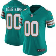 Wholesale Cheap Nike Miami Dolphins Customized Aqua Green Alternate Stitched Vapor Untouchable Limited Women's NFL Jersey