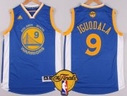 Wholesale Cheap Men's Golden State Warriors #9 Andre Iguodala Blue 2016 The NBA Finals Patch Jersey