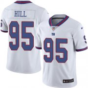 Wholesale Cheap Nike Giants #95 B.J. Hill White Men's Stitched NFL Limited Rush Jersey
