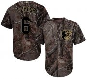 Wholesale Cheap Orioles #6 Jonathan Schoop Camo Realtree Collection Cool Base Stitched MLB Jersey