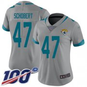 Wholesale Cheap Nike Jaguars #47 Joe Schobert Silver Women's Stitched NFL Limited Inverted Legend 100th Season Jersey