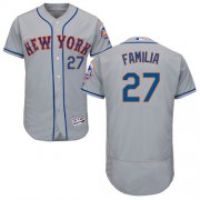Wholesale Cheap Mets #27 Jeurys Familia Grey Flexbase Authentic Collection Stitched MLB Jersey
