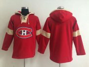 Wholesale Cheap Montreal Canadiens Blank Red Pullover NHL Hoodie