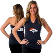 Wholesale Cheap Women's All Sports Couture Denver Broncos Blown Coverage Halter Top