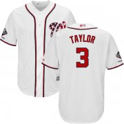 Wholesale Cheap Nationals #3 Michael Taylor White New Cool Base 2019 World Series Champions Stitched MLB Jersey