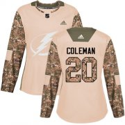 Cheap Adidas Lightning #20 Blake Coleman Camo Authentic 2017 Veterans Day Women's Stitched NHL Jersey