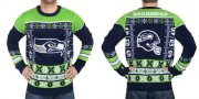 Wholesale Cheap Nike Seahawks Men's Ugly Sweater