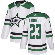 Cheap Adidas Stars #23 Esa Lindell White Road Authentic Stitched NHL Jersey