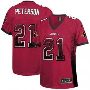 Wholesale Cheap Nike Cardinals #21 Patrick Peterson Red Team Color Women's Stitched NFL Elite Drift Fashion Jersey