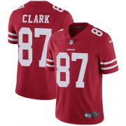 Wholesale Cheap Nike 49ers #87 Dwight Clark Red Team Color Men's Stitched NFL Vapor Untouchable Limited Jersey