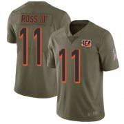 Wholesale Cheap Nike Bengals #11 John Ross III Olive Men's Stitched NFL Limited 2017 Salute To Service Jersey