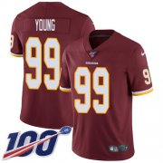 Wholesale Cheap Nike Redskins #99 Chase Young Burgundy Red Team Color Men's Stitched NFL 100th Season Vapor Untouchable Limited Jersey