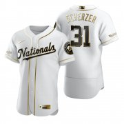 Wholesale Cheap Washington Nationals #31 Max Scherzer White Nike Men's Authentic Golden Edition MLB Jersey