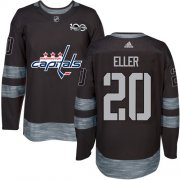 Wholesale Cheap Adidas Capitals #20 Lars Eller Black 1917-2017 100th Anniversary Stitched NHL Jersey