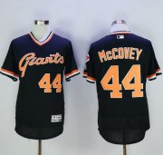 Wholesale Giants #44 Willie McCovey Black Flexbase Authentic Collection Cooperstown Stitched Baseball Jersey