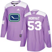 Wholesale Cheap Adidas Canucks #53 Bo Horvat Purple Authentic Fights Cancer Youth Stitched NHL Jersey