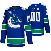Wholesale Cheap Men's Vancouver Canucks Custom Adidas Blue 2019-20 Home Authentic NHL Jersey